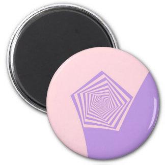 Espiral de Pentágono en pálido - rosa e imán de la