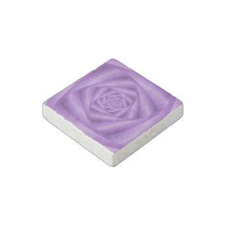 Espiral de piedra   de la violeta del imán imán de piedra
