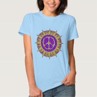 Espiral de Sun de la paz Camisas