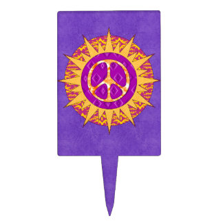 Espiral de Sun de la paz Figuras De Tarta