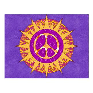 Espiral de Sun de la paz Postales