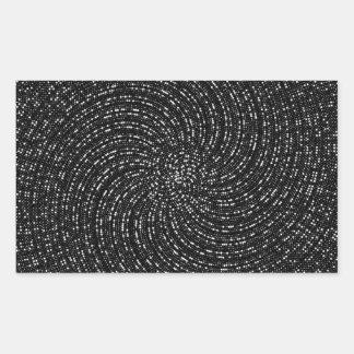 Espiral de Ulam Rectangular Pegatina