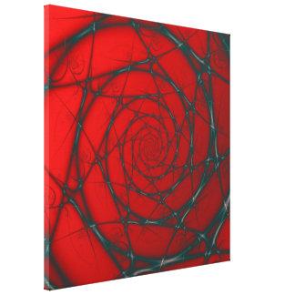 Espiral del alambre en la impresión roja de la impresión en lona