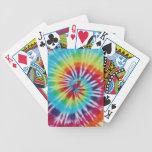 Espiral del arco iris barajas de cartas