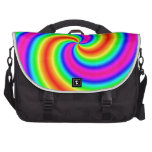 Espiral del arco iris bolsas de portátil