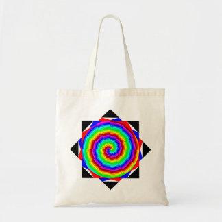 Espiral del arco iris de Kenneth Yoncich Bolsa Tela Barata