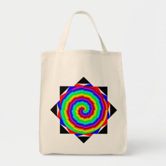 Espiral del arco iris de Kenneth Yoncich Bolsa Tela Para La Compra