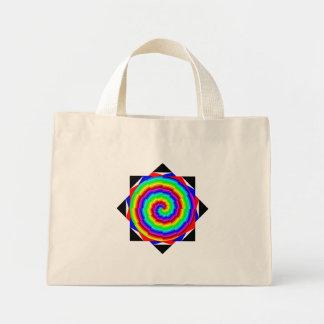 Espiral del arco iris de Kenneth Yoncich Bolsa Tela Pequeña