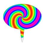 Espiral del arco iris decoraciones para tartas