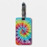 Espiral del arco iris etiquetas para maletas