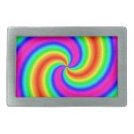 Espiral del arco iris hebilla cinturón