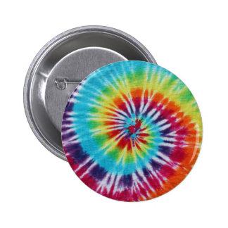 Espiral del arco iris pin redondo de 2 pulgadas