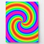 Espiral del arco iris placas