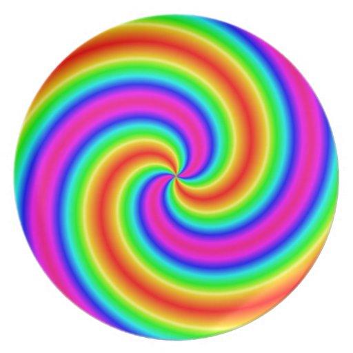 Espiral del arco iris plato