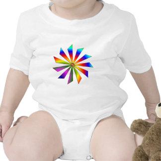 Espiral del arco iris trajes de bebé