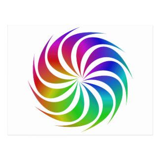 Espiral del arco iris postales
