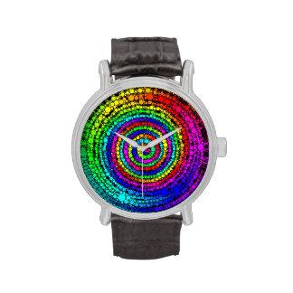 Espiral del arco iris relojes de mano