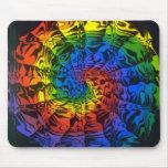 espiral del arco iris tapete de ratón