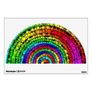 Espiral del arco iris vinilo adhesivo