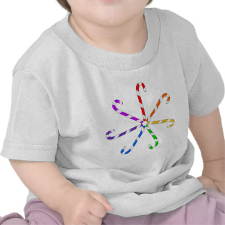 Espiral del bastón de caramelo camisetas