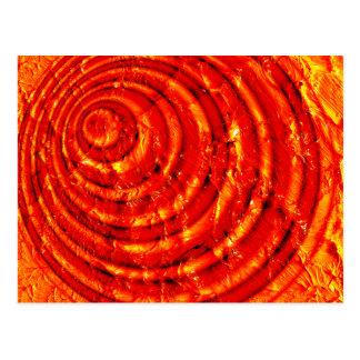 Espiral del cardenal y del oro postal