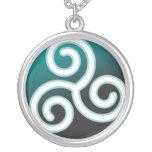 Espiral del Celtic de Triskele Colgantes