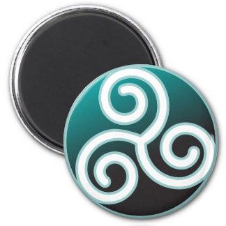 Espiral del Celtic de Triskele Imán Redondo 5 Cm