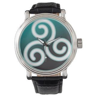 Espiral del Celtic de Triskele Relojes De Mano
