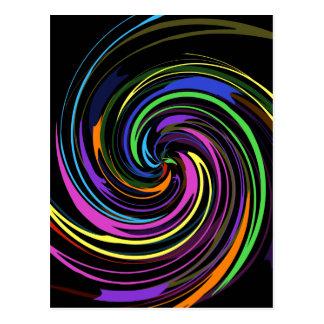 Espiral del color postal