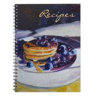 Espiral del cuaderno - recetas (crepes)