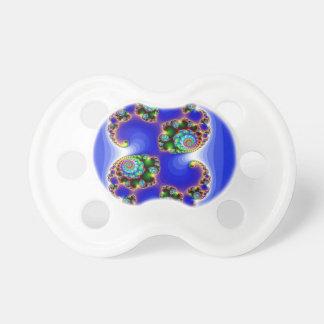 Espiral del fractal del arco iris en Backround que Chupetes Para Bebés
