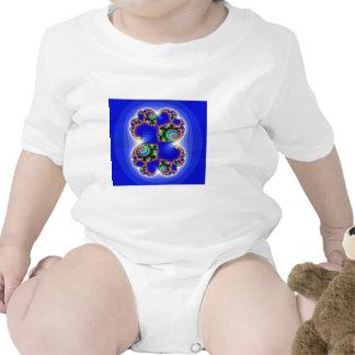 Espiral del fractal del arco iris en Backround que Trajes De Bebé