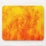 Espiral del fractal del fuego: tapetes de raton
