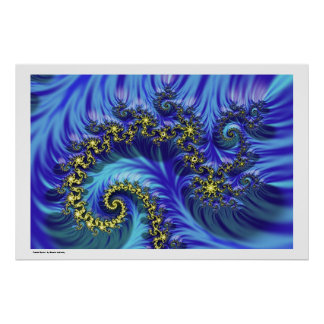 Espiral del fractal póster