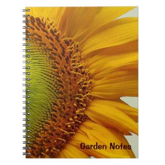 Espiral del girasol gigante - cuaderno encuadernad