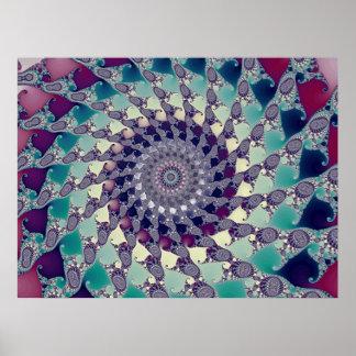 Espiral del helado (impresión) poster