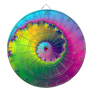Espiral del lavado de color del Dartboard