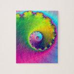 Espiral del lavado de color del rompecabezas