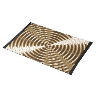 Espiral del metal del oro manteles individuales