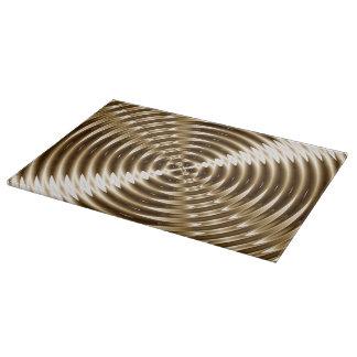 Espiral del metal del oro tablas de cortar