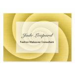 Espiral del oro en textura cepillada del metal tarjetas de visita