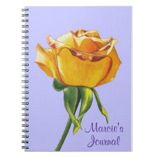 Espiral del rosa amarillo - cuaderno encuadernado