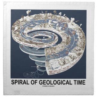Espiral del tiempo geológico (espiral de la histor servilletas de papel