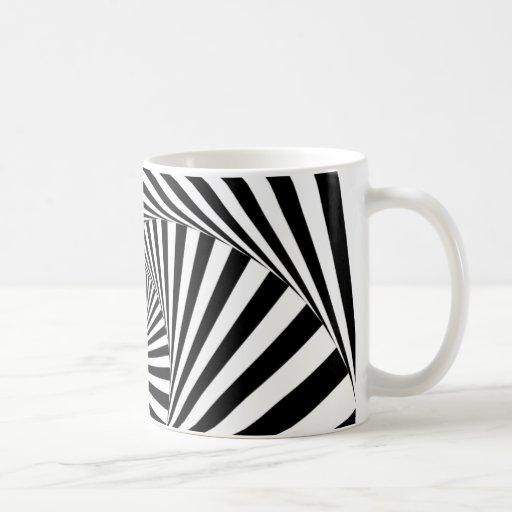 ~ ESPIRAL del TÚNEL (un diseño negro y blanco) Tazas