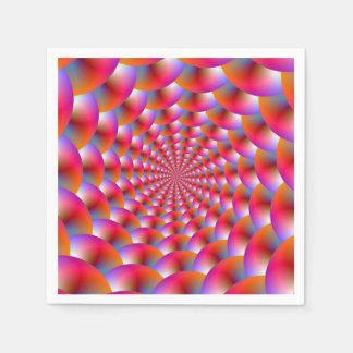 Espiral disponible de las servilletas de esferas servilleta de papel