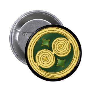 Espiral doble céltico de los pernos y de los boton pins
