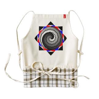 Espiral doble de Yin Yang Delantal Zazzle HEART