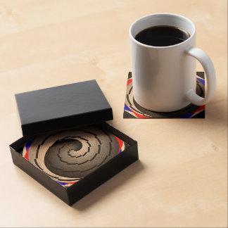 Espiral doble de Yin Yang Posavasos