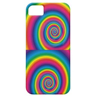 Espiral doble del arco iris iPhone 5 funda