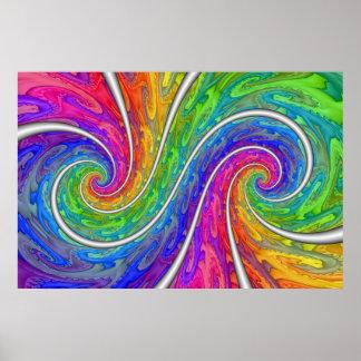 Espiral doble póster